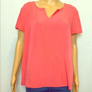 Coral blouse, size Large
